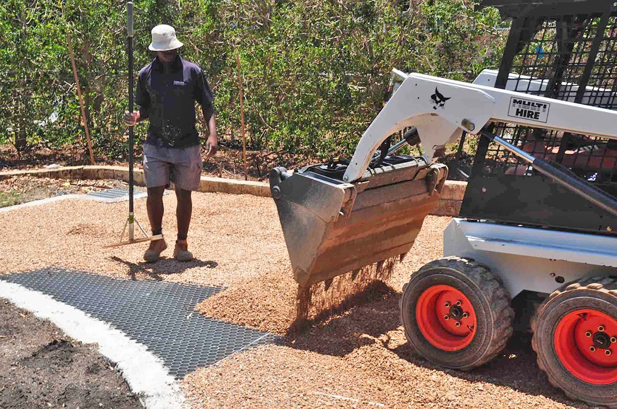 Core Gravel 50 35hd Being Covered During A Driveway Installation