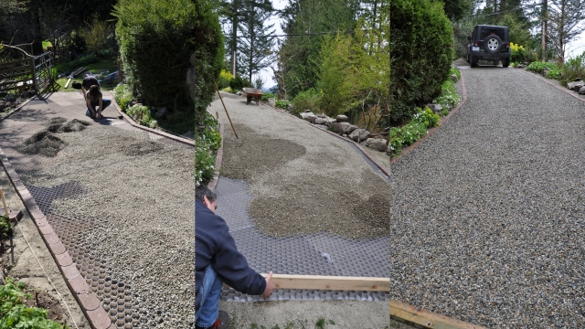 Permeable Gravel Driveways Stabilized For Vehicle And