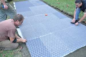 CORE grid panels easily snap together and can be trimmed to follow a meandering path.