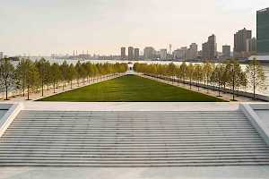Four Freedoms Park is a quite respite for New Yorkers who can enjoy along the SolePave walkways or relax on the park lawn.