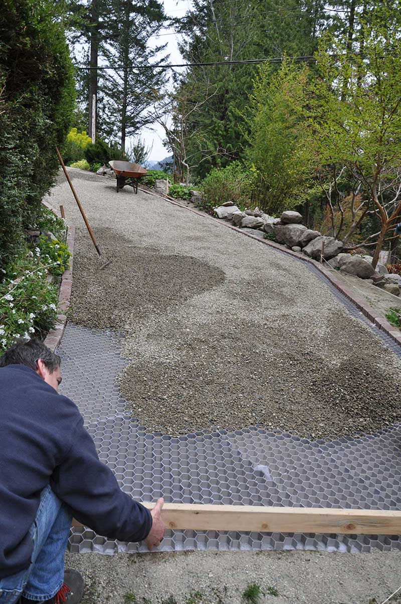 Green Driveway Sloped Driveway Installation