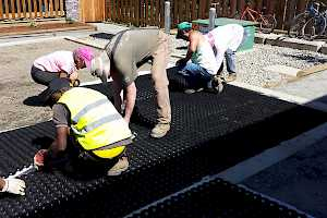 The CORE Gravel grid structure is put in place.
