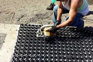 For those larger cuts the grid system is easily cut with a skillsaw.